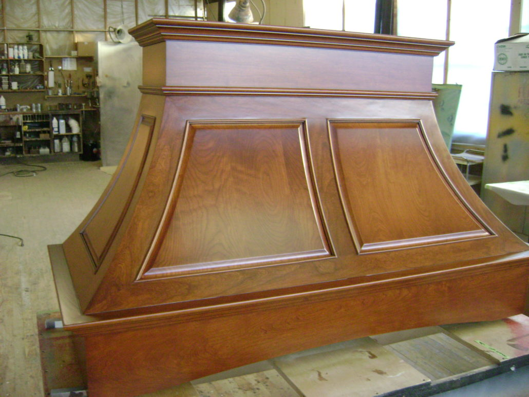 Stained hood for kitchen
