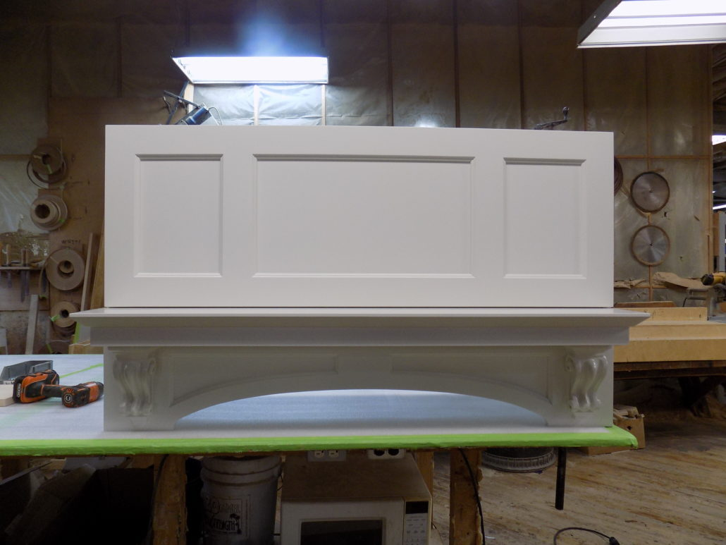 White hood for kitchen