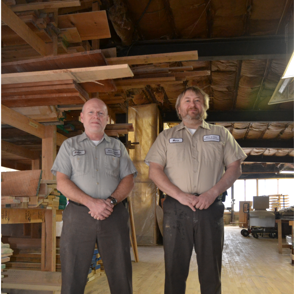 Walt Beck and Mark Ness of Beck & Ness Woodworking